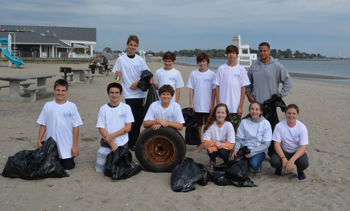 Beach Cleanup In Connecticut T-Shirt Photo