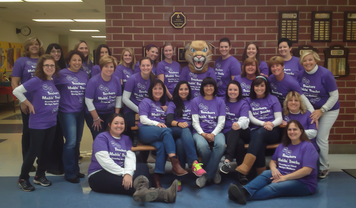 Teachers Makin' Tracks Rock! T-Shirt Photo