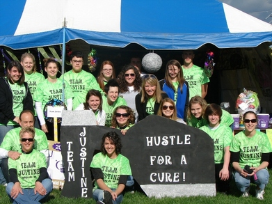 Team Justine Relay For Life 2008 T-Shirt Photo