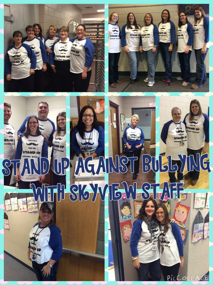 Skyview Elementary Stand Up Against Bullying T-Shirt Photo