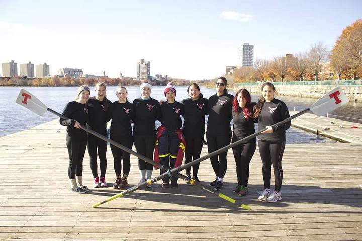 Mit Women's Crew Novice Boat After The Foot Of The Charles Regatta! T-Shirt Photo