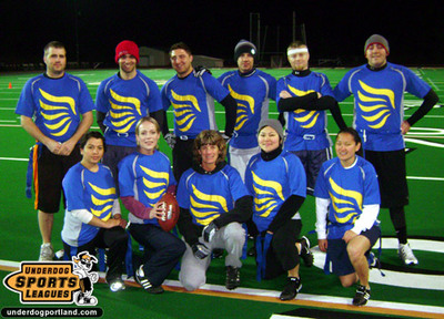 Flag Football Team T-Shirt Photo