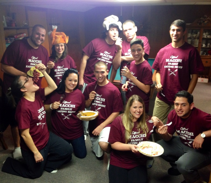 We <3 Our Macchi Family Eating Shirts!  T-Shirt Photo
