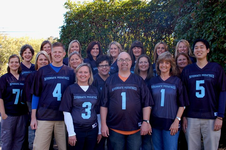 """It's Football Time At Rivergate Pediatrics"" T-Shirt Photo"