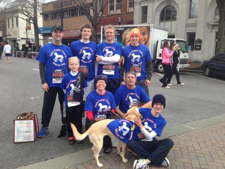 Team Faster Than A Wiener Dog T-Shirt Photo