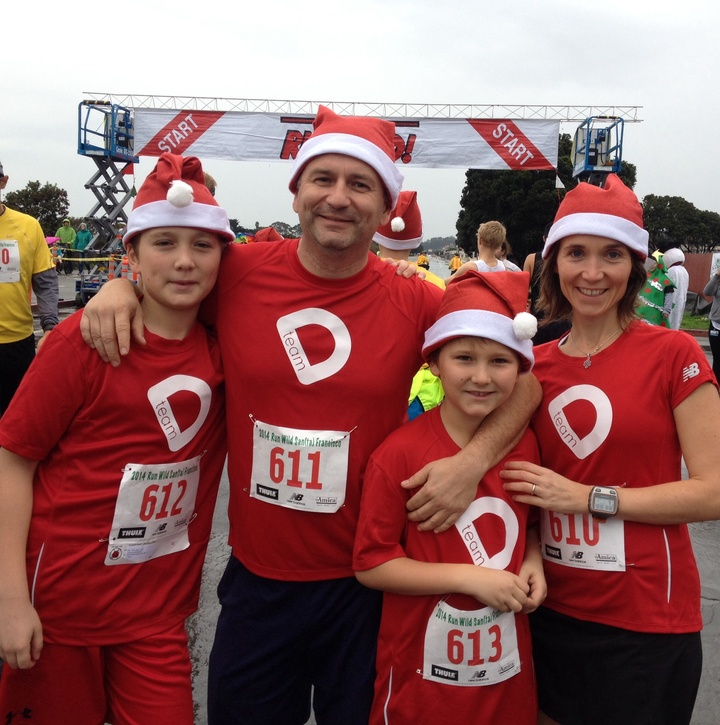 Team D At Santa Run 2014 T-Shirt Photo