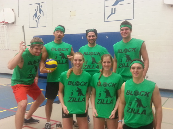 Blockzilla Volleyball  T-Shirt Photo