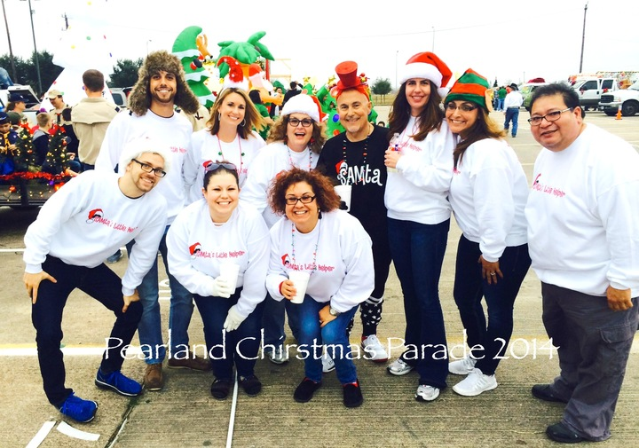 Pearland Christmas Parade   The Sam Team T-Shirt Photo