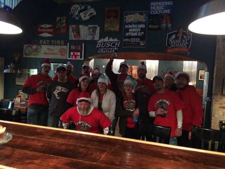 2014 Christmas Crawl Bustrip! T-Shirt Photo