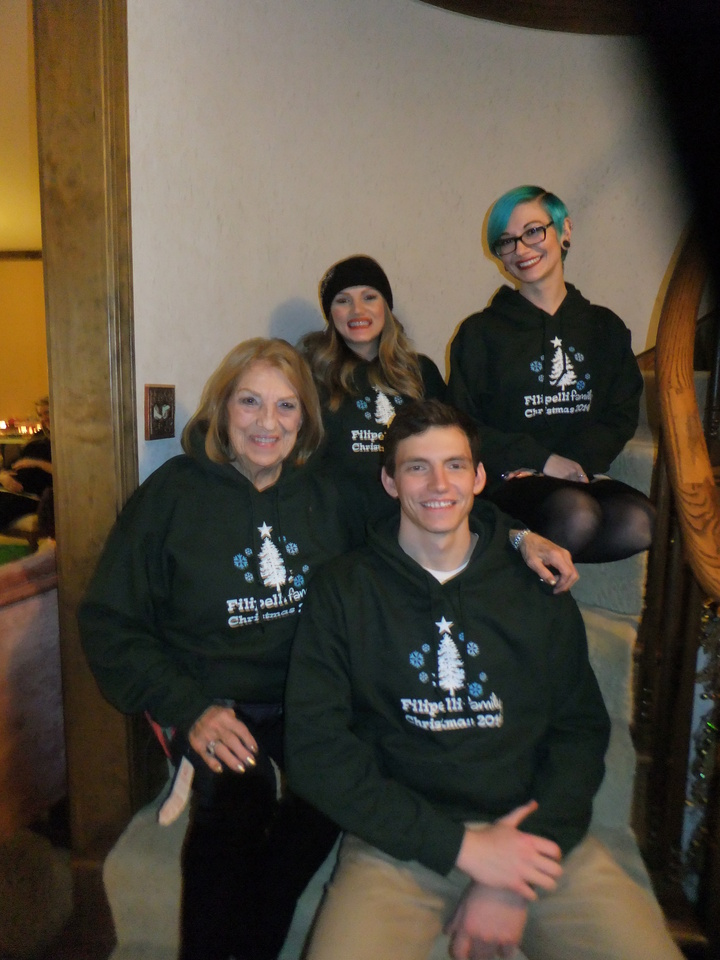 "Annual Christmas Photo ""Nona With Grandkids"" T-Shirt Photo"