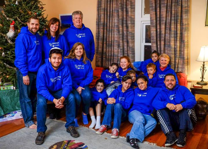 Family Christmas Hoodies! T-Shirt Photo