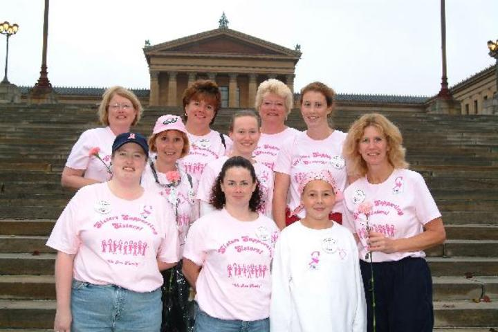 Sisters Supporting Sisters Team T-Shirt Photo