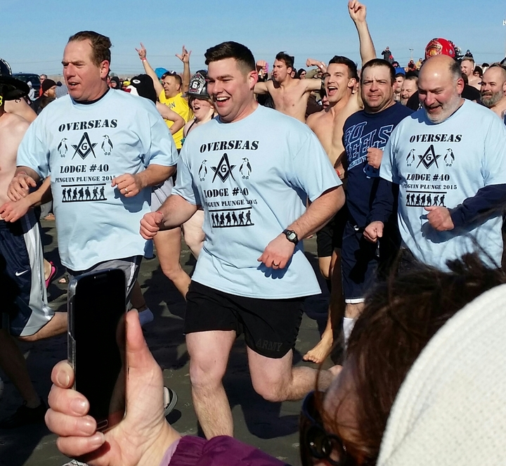 Penguin Plunge2 1 1 2015 T-Shirt Photo