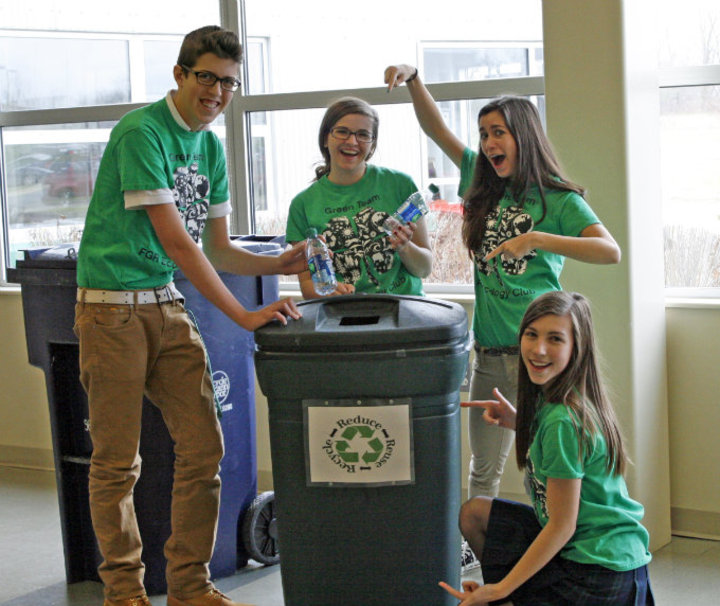 """The Green Team""  Ecology Club Recycling T-Shirt Photo"