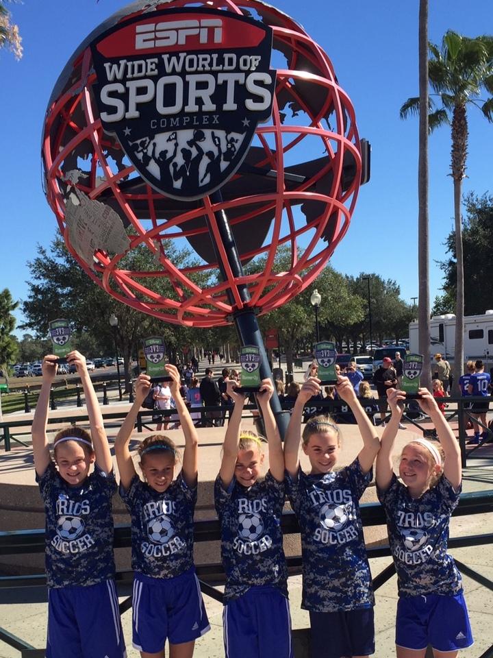 Trios Soccer In Disney 3v3 T-Shirt Photo