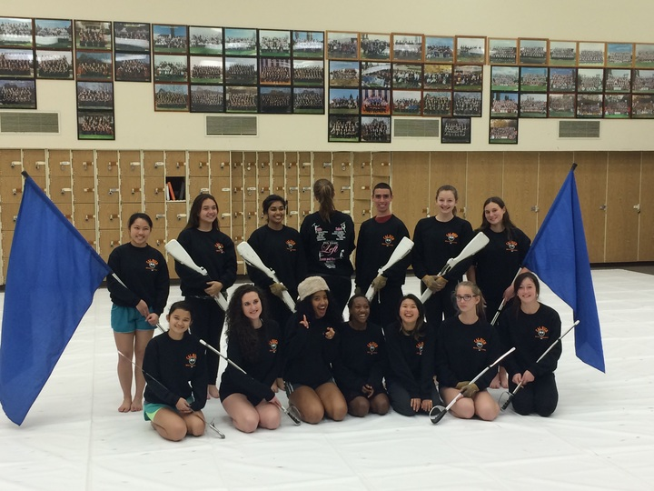 California High School Winter Guard T-Shirt Photo