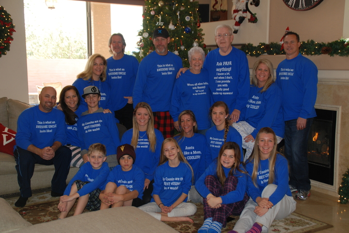 Family Christmas 2014 T-Shirt Photo