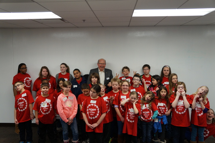 Silly Picture With The Ceo On Take Your Child To Work Day 2015 T-Shirt Photo