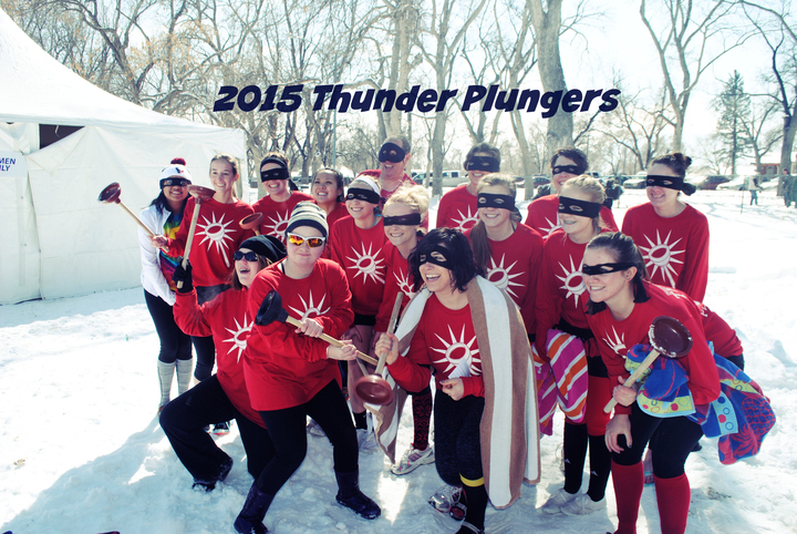 Colorado Springs Polar Plunge: The Thunder Plungers T-Shirt Photo