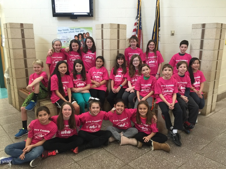 Poplar Tree Peer Buddies  Helping Others Making A Difference! T-Shirt Photo