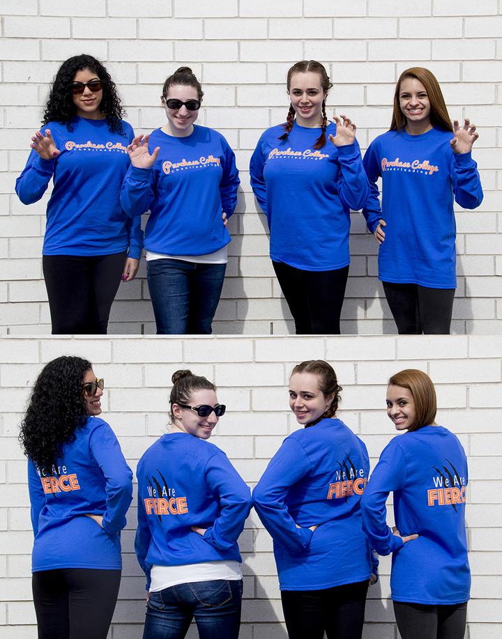 Purchase College Cheerleading Team T-Shirt Photo