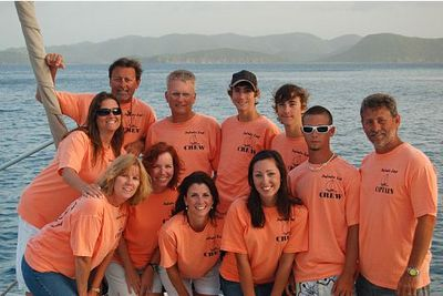 Infinite Zest Captain And Crew British Virgin Islands 2008 T-Shirt Photo