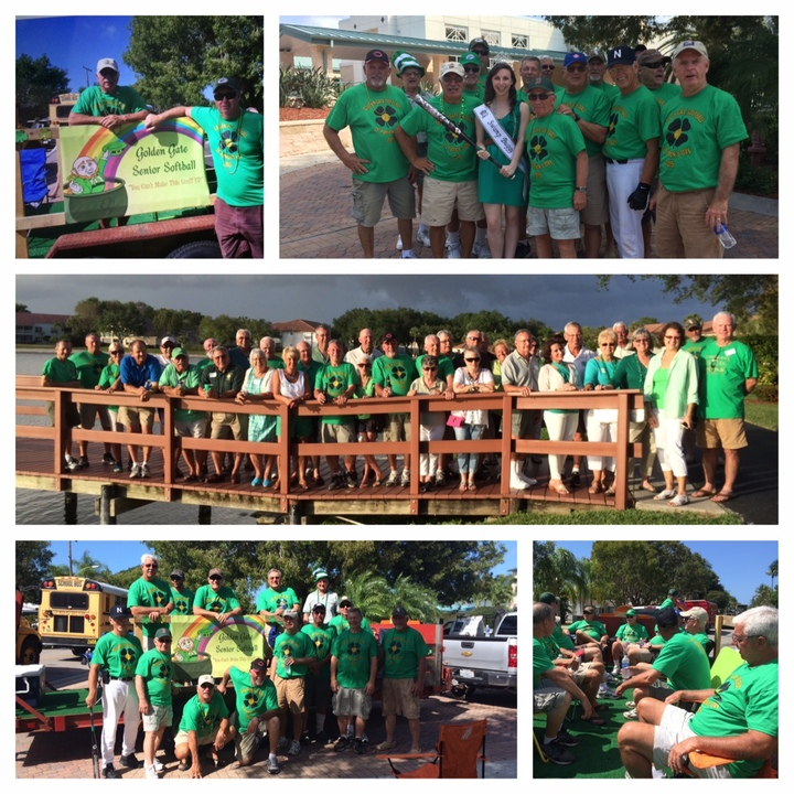 The Golden Gate Senior Softball League At The Naples, Florida St. Patrick's Day Parade And Party T-Shirt Photo