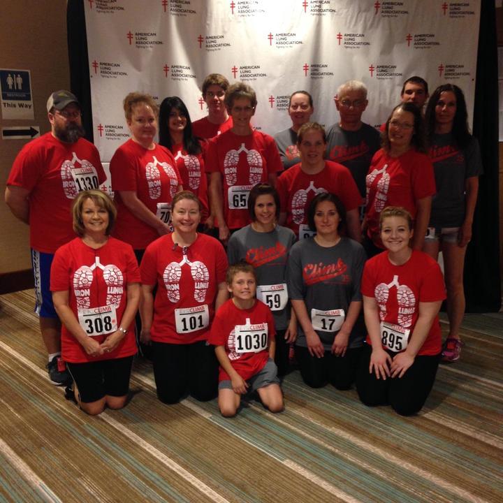 #Team Bunn Fight For Air Climbers T-Shirt Photo