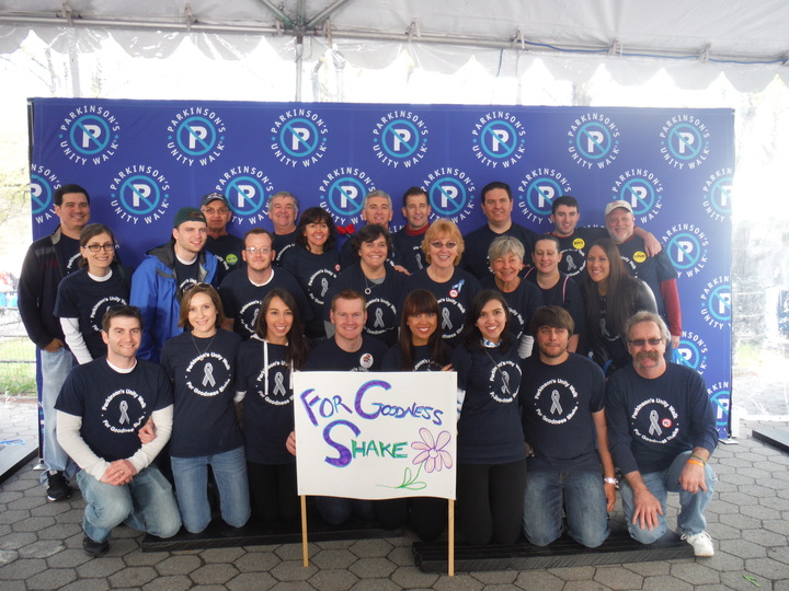 "Parkinson's Walk: Team ""For Goodness Shake"" T-Shirt Photo"