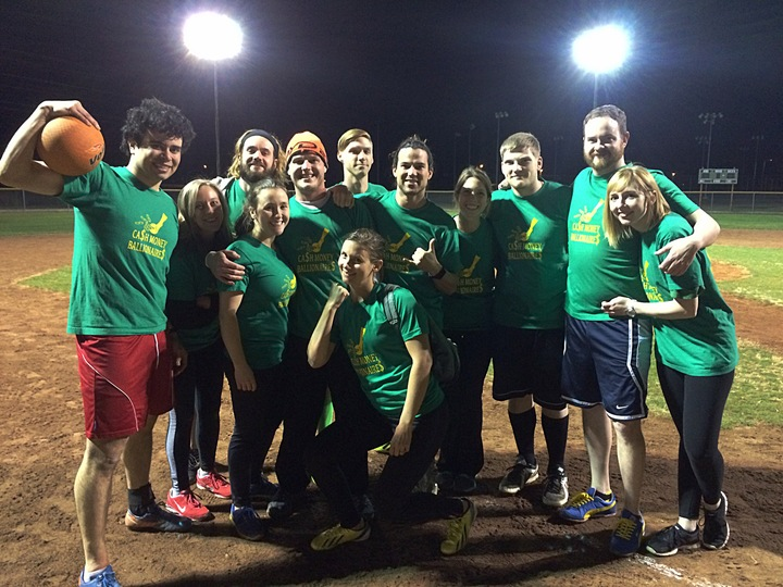 Ca$H Money Ballionaire$ Kickball Team T-Shirt Photo