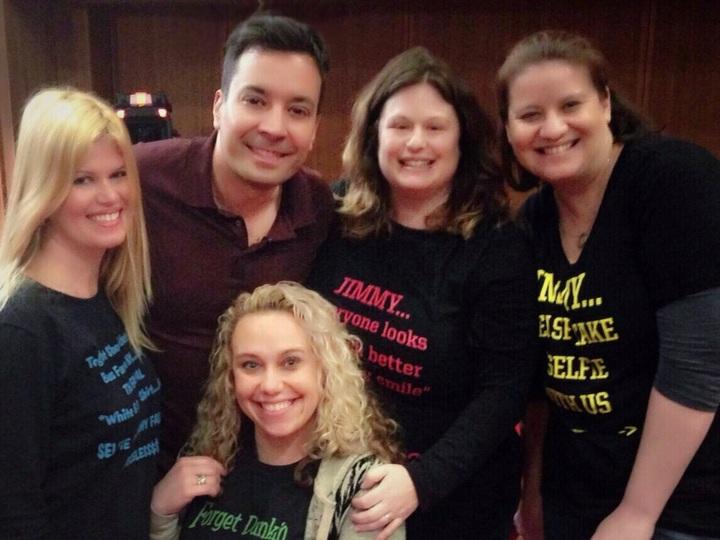 Meeting Jimmy Fallon! T-Shirt Photo