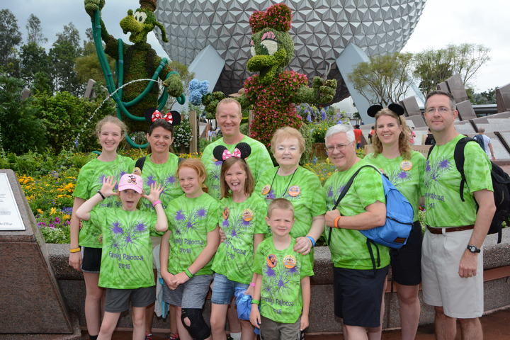 Family Fun At Epcot T-Shirt Photo