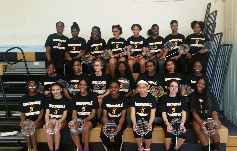 a2cecf41 Uniondale High School Badminton Team T-Shirt Photo.
