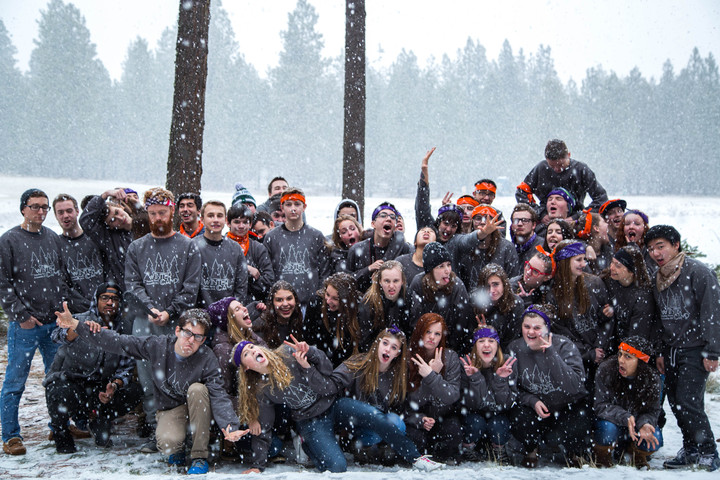 Youth Group In The Snow! T-Shirt Photo