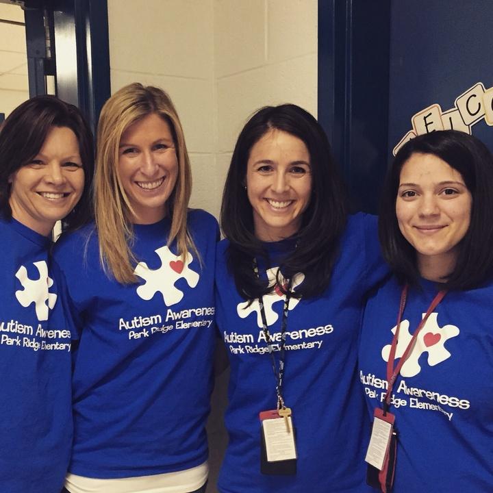 Light It Up Blue For Autism Awareness! T-Shirt Photo