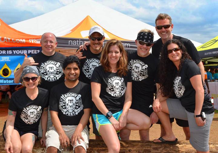 Team Agony Of De Feet At Ragnar Trail Relay Atlanta T-Shirt Photo