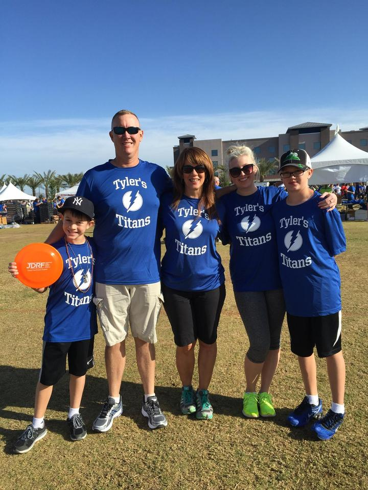 Tyler's Titans Walking For A Cure T-Shirt Photo