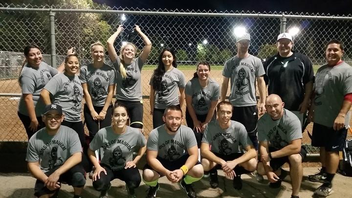 Sons Of Mayhem Coed Softball Team 1 0 W!! T-Shirt Photo