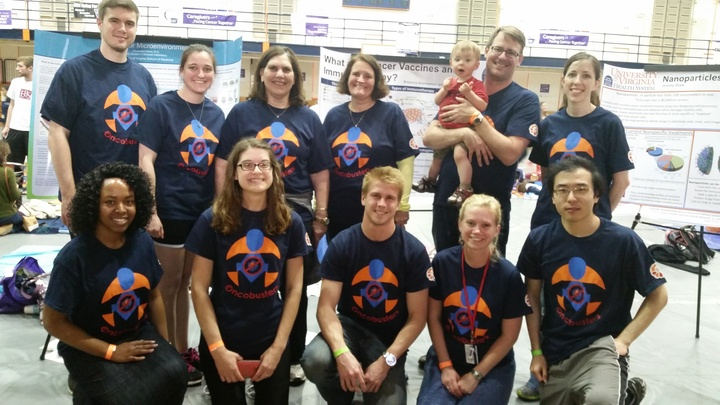 Oncobusters At University Of Virginia's Relay For Life! T-Shirt Photo