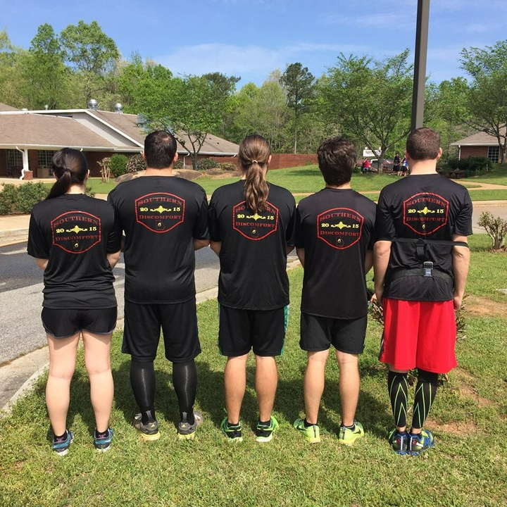 Team Southern Discomfort Before The Macon Mud Run T-Shirt Photo