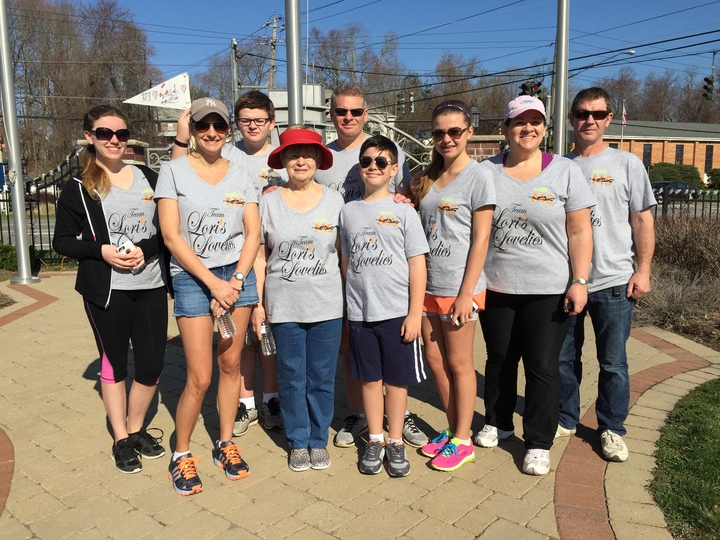 Ms Walk 2015 Team Lori's Lovelies T-Shirt Photo