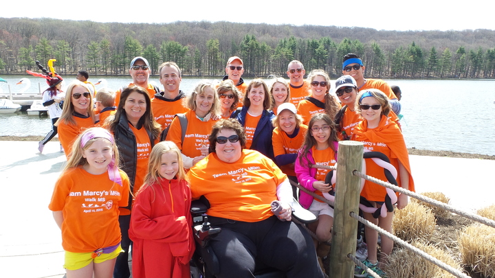 Team Marcy's Mom At Walk Ms , New Jersey, 4/19/15 T-Shirt Photo