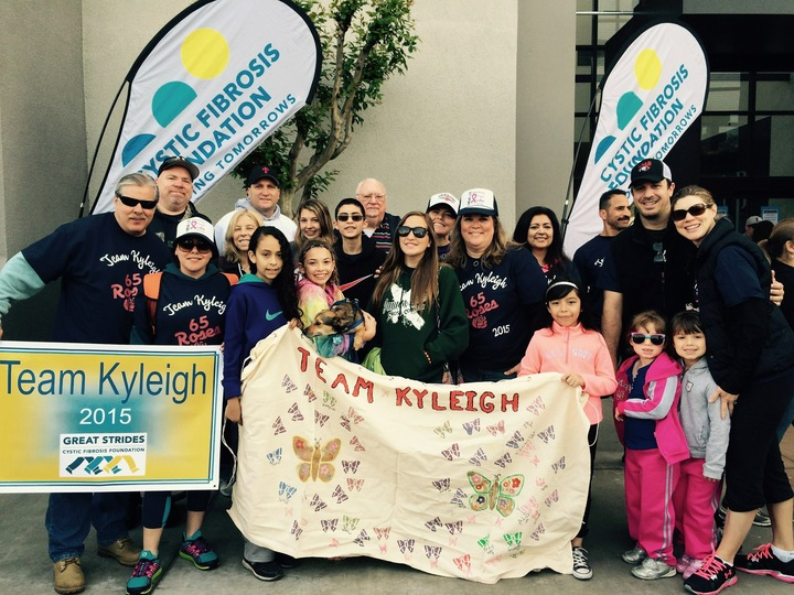Team Kyleigh Walking To Cure Cf T-Shirt Photo
