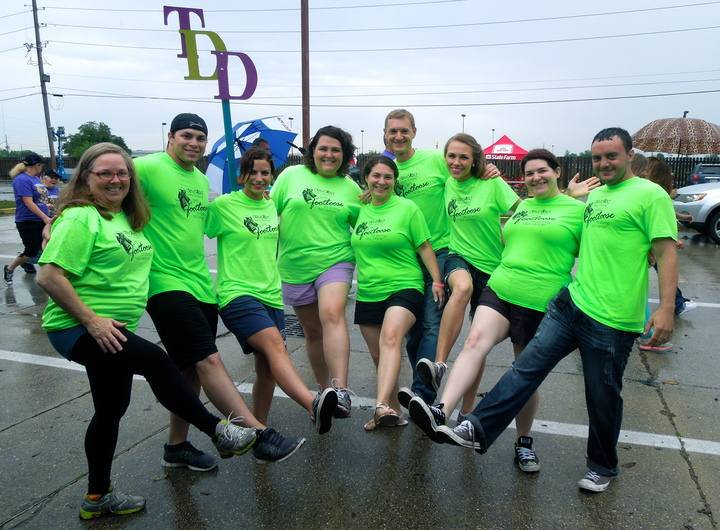 Footloose To Stomp Out Cancer! T-Shirt Photo