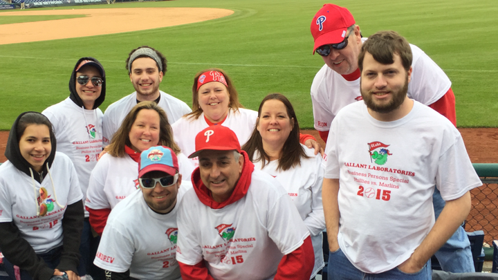 Gallant Labs At The Business Persons Special Phillies Game, April 23, 2015 T-Shirt Photo