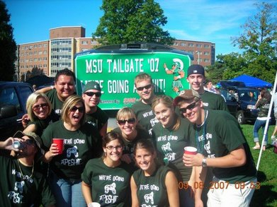 We're Going Ape Sh*T!  Msu Tailgate 2007 T-Shirt Photo