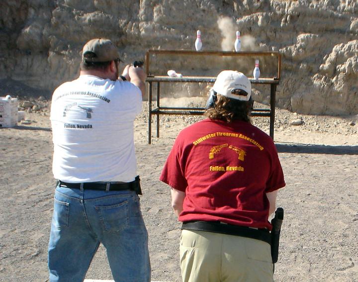 Bowling Pin Shooting Match T-Shirt Photo