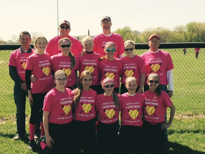 Ns Lightning Playing For A Cure T-Shirt Photo