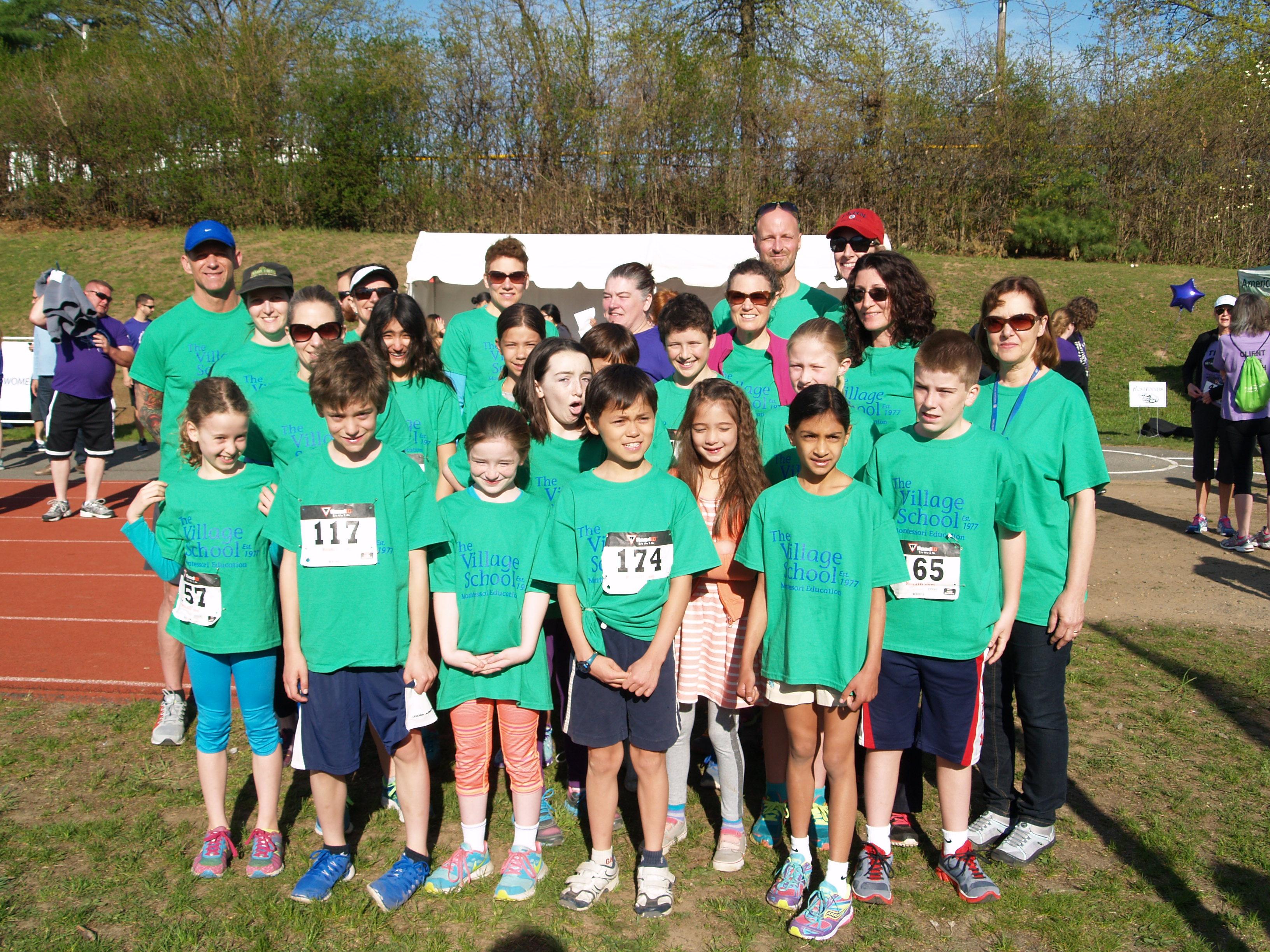 Custom T Shirts For The Village School 5 K Running Team Shirt