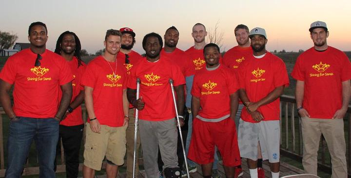 Iowa Barnstormers Team Shining For Sarah T-Shirt Photo